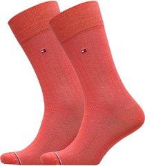 th men sock 2p rib underwear socks regular socks röd tommy hilfiger