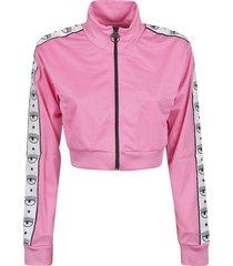 chiara ferragni tape id crop track jacket