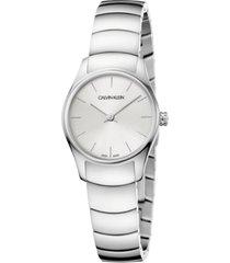 calvin klein women's classic too stainless steel bracelet watch 24mm