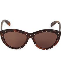 57mm studded cateye sunglasses
