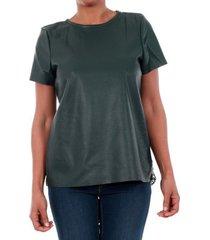 t-shirt korte mouw vero moda 10188470 vmrina lace butter s/s top lcs green gables