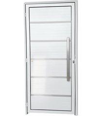 porta direita com lambri e puxador em alumínio super 25 premium 210x100cm branca