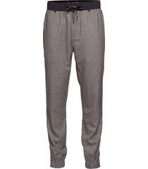 mix media wool nylon sweatpants mjukisbyxor grå calvin klein jeans