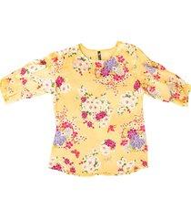 blusa chiffon bolero flores - 81110960
