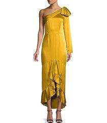 1-shoulder high-low dress