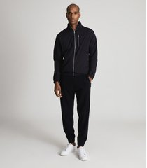 reiss chambers - lightweight zip through jacket in navy/charcoal, mens, size xxl