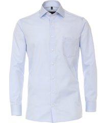casamoda heren overhemd licht ml7 twill effen comfort fit