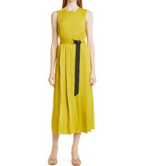women's ted baker london sleeveless pleated dress, size 0 - yellow