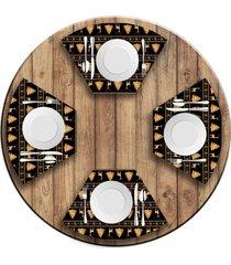 jogo americano   para mesa redonda wevans premium natal  love decor - multicolorido - dafiti