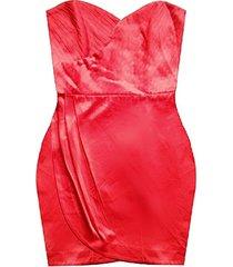 vestido strapless sarab rojo
