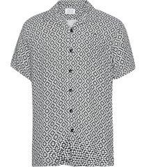 cave s/s overhemd met korte mouwen zwart libertine-libertine