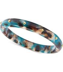 zenzii gold-tone acetate bangle bracelet
