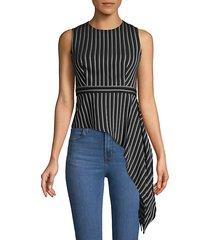 assymetric draped stripe top
