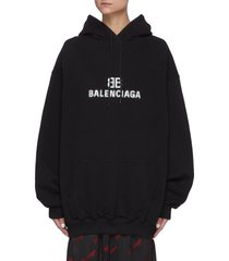 8-bit logo print drawstring hoodie