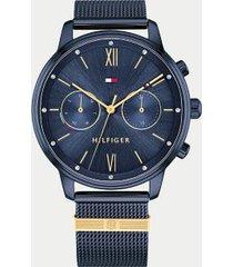 tommy hilfiger women's blue watch wi mesh bracelet navy -