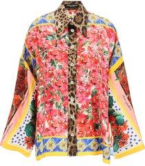 dolce & gabbana printed shirt silk
