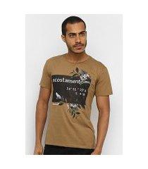 camiseta acostamento coordenadas masculina