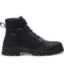 "wolverine chainhand waterproof 6"" boot black, size 7 extra wide width"