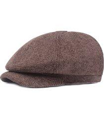 berretto da berretto casual da donna a righe in cotone retrò berretto invernale da viaggio outdoor classic cap
