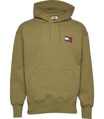 tjm tommy badge hoodie hoodie grön tommy jeans