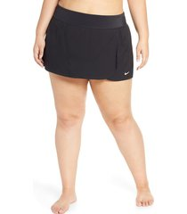 plus size women's nike swim board skirt, size 3x - black
