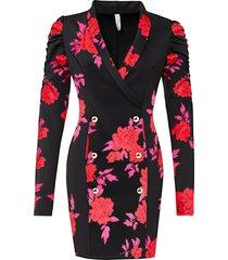 abito con arricciature (nero) - bodyflirt boutique