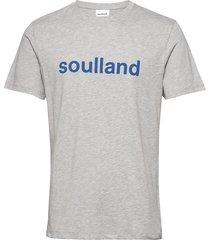 logic chuck t-shirt w.print t-shirts short-sleeved grå soulland