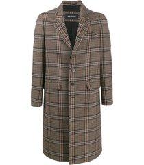 neil barrett casaco xadrez - preto