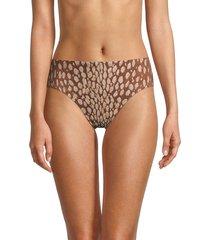 robin piccone women's bambi high-waist bikini bottom - fawn ivory - size xs