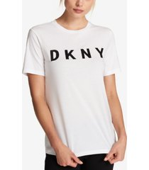 dkny cotton logo-print t-shirt