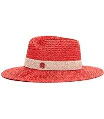 'virginie' straw trilby fedora hat