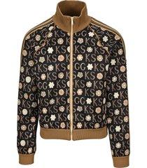 ken scott x print zip-up jacket