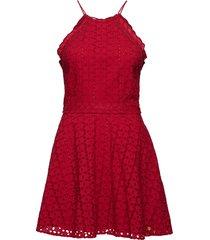 teagan halter dress kort klänning röd superdry
