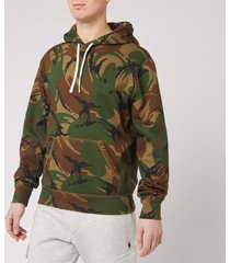 polo ralph lauren men's camo hoodie - british elmwood camo - s