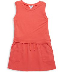little girl's tie-front drop-waist dress