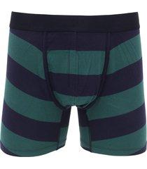 cueca gap boxer listrada azul-marinho/verde - kanui