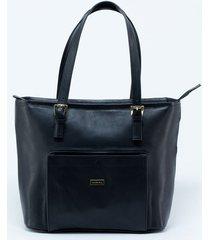 bolso negro de cuero para mujer.