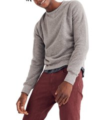 men's madewell crewneck sweatshirt, size x-large - grey