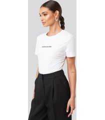 calvin klein institutional logo stretch slim tee - white