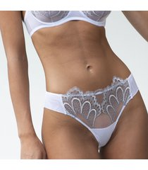 ambra lingerie slips grand arches brasil wit/grijs 1329