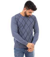 suéter de malha gola redonda sumaré masculino
