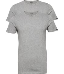 puma basic 2p crew tee t-shirts short-sleeved grå puma
