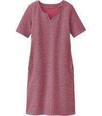 jersey jurk van structuur-jacquard, grijs-motief 40