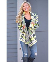 autumn winter aztec tribal printing cardigans female long sleeve loose coat (7)