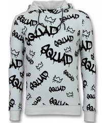 sweater tony backer flockprint hoodie squrd hoodie