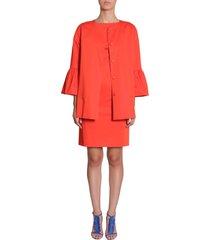 boutique moschino stretch satin coat