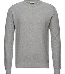 curth gebreide trui met ronde kraag grijs minimum