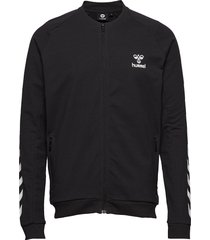 hmlray zip jacket sweat-shirt tröja svart hummel
