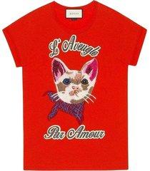 cat geborduurde overhemd