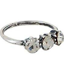 anel armazem rr bijoux pequeno cristais feminino - feminino